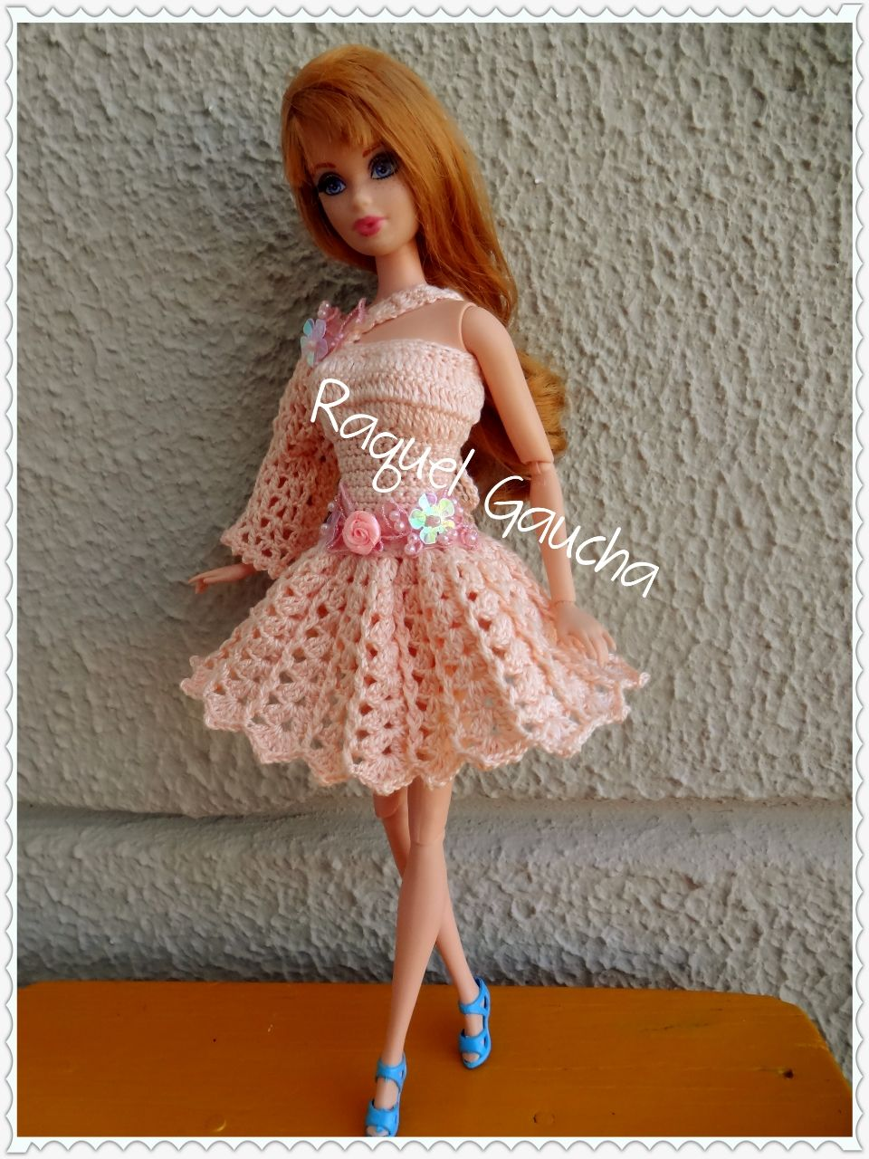 #Cléa5 #Crochet #Barbie #Doll #Muñeca #Midge #Vestido rachelcrochet.wordpress.com #RaquelGaucha