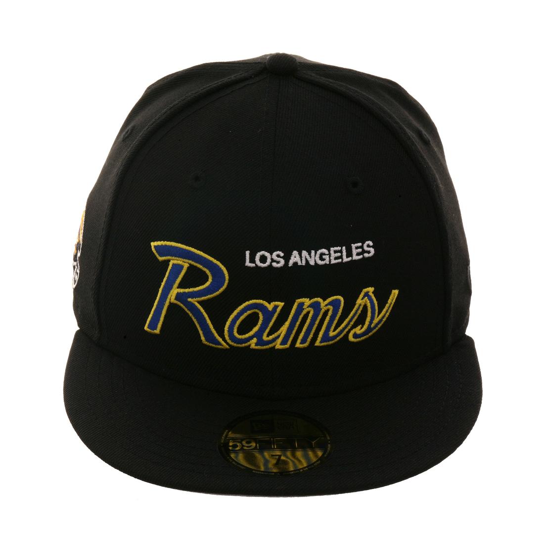 Exclusive New Era 59Fifty Los Angeles Rams Script Hat - Black 5232cba5c
