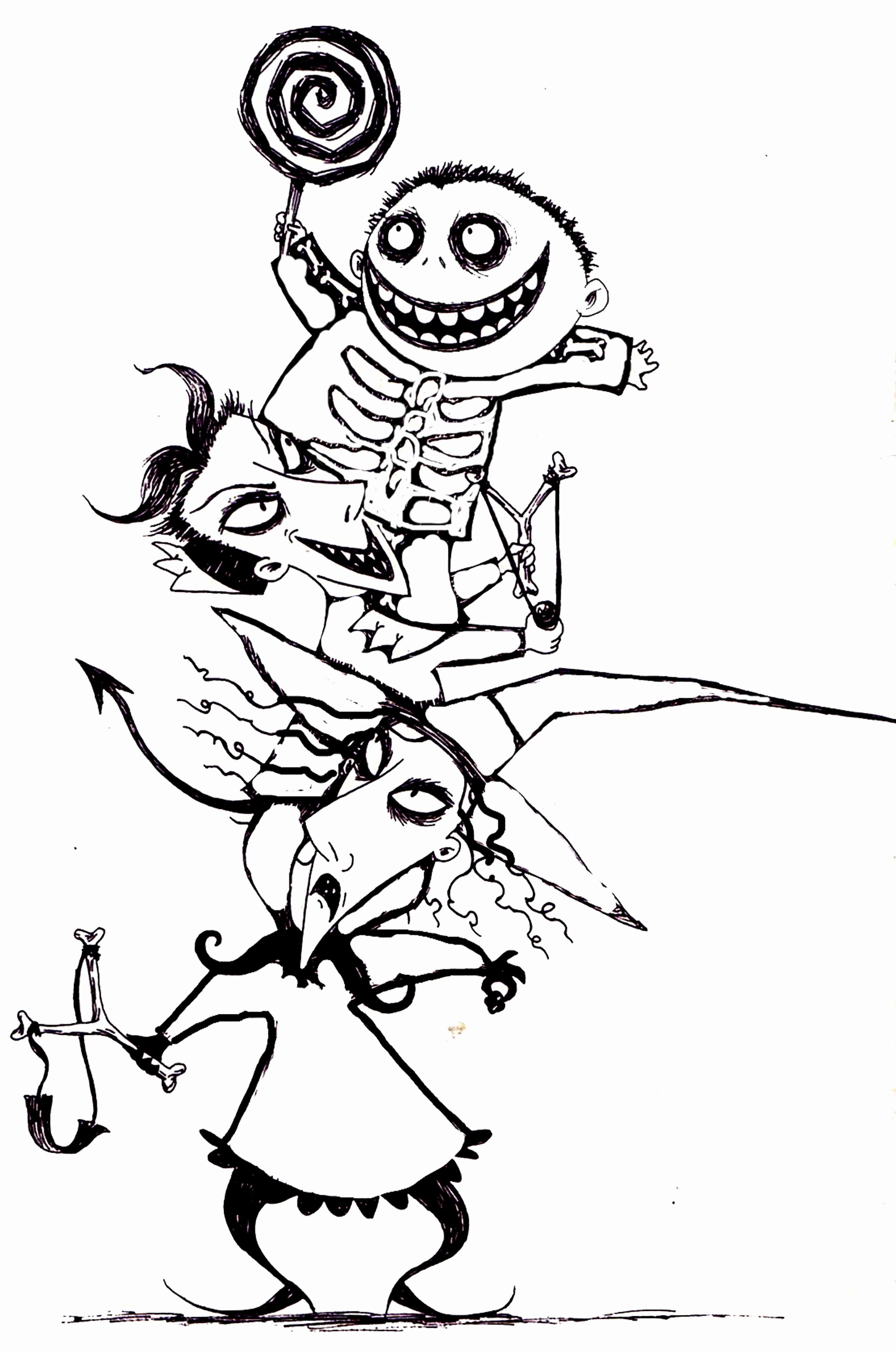 Coloring Cartoon Characters Pdf | Nightmare before ...