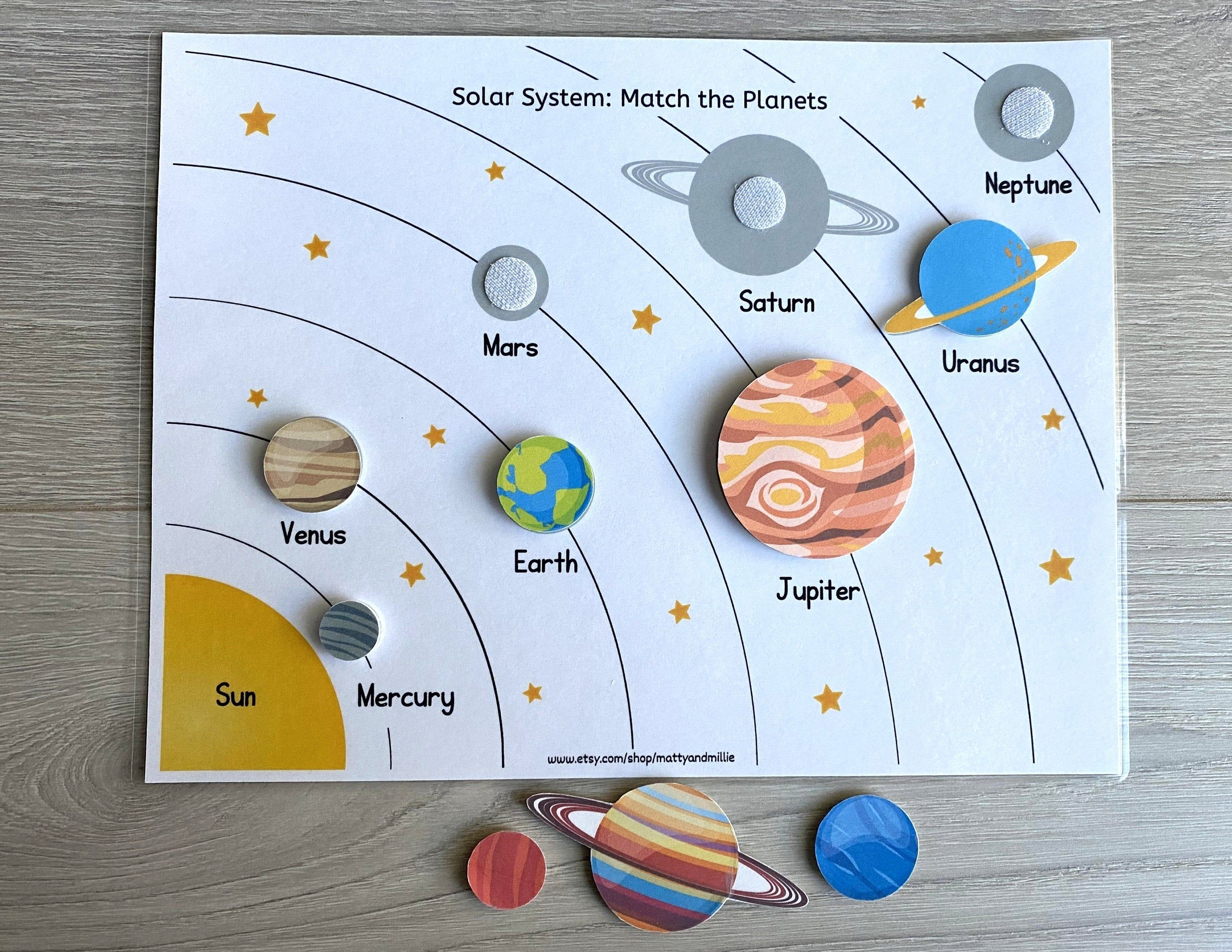 Solar System Worksheet Busy Book Pages Preschool Busy