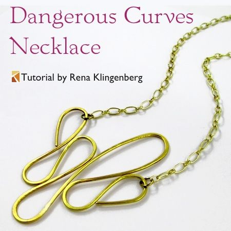 Dangerous Curves Wire Chain Necklace Tutorial By Rena Klingenberg Jewelry Tutorials