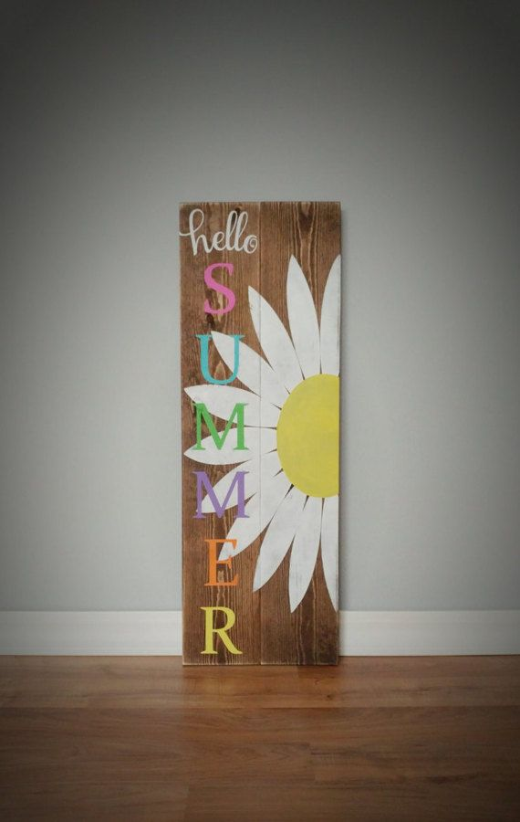 Hello Summer  Welcome Sign  Welcome  Porch Decor  Front