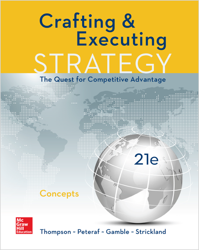 Crafting and Executing Strategy: Concepts 21st Edition eBook, PDF ...