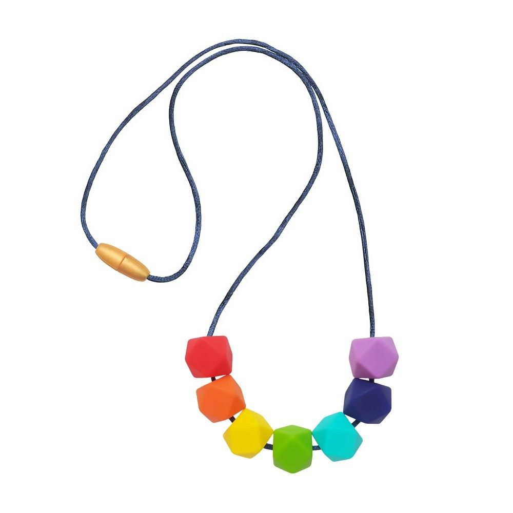 Silicone Beads Teething Necklace Baby Sensory Jewellery Teether Tooth Pain UK