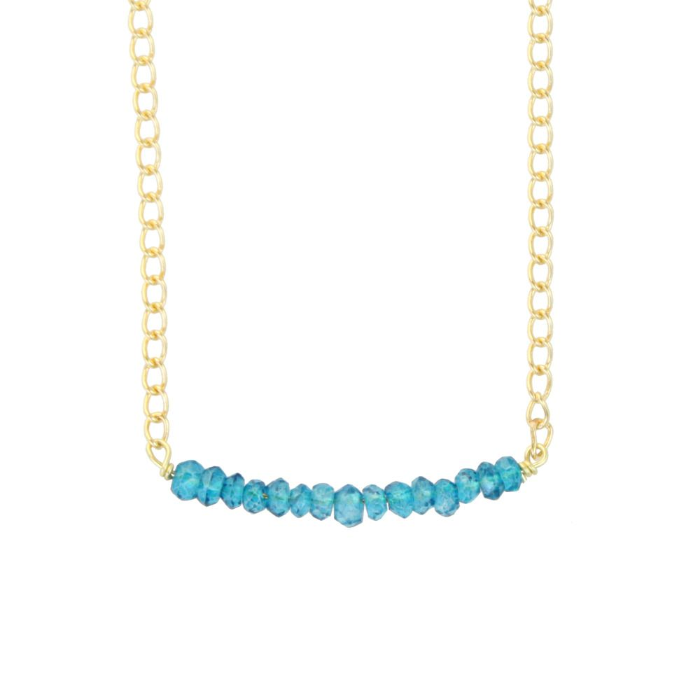 Apatite Rock Necklace $38 #jewelry