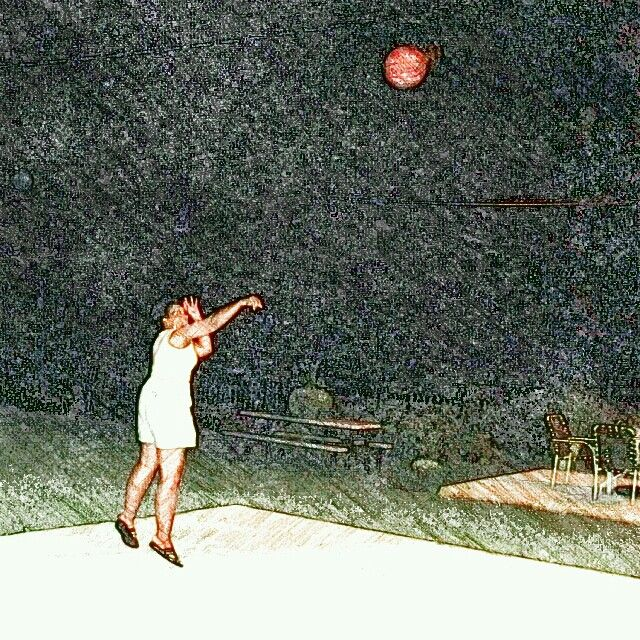 Night-time Basketball.  Shooting with my boys. Yes, I made the shot. Great way to burn some calories.