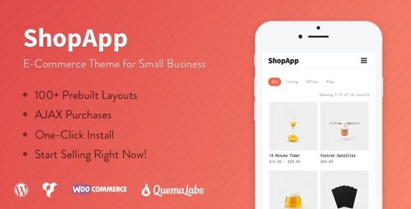 ShopApp - WordPress Theme for Small Business by QuemaLabs