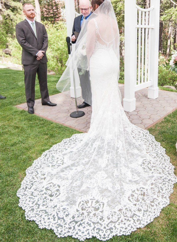 0fd41d16b8 Martina Liana '888' size 12 used wedding dress back view on bride ...