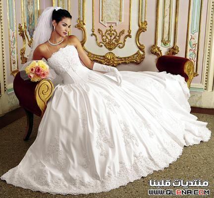 63a4a12b2b51f فساتين زفاف ناعمة مره 2013
