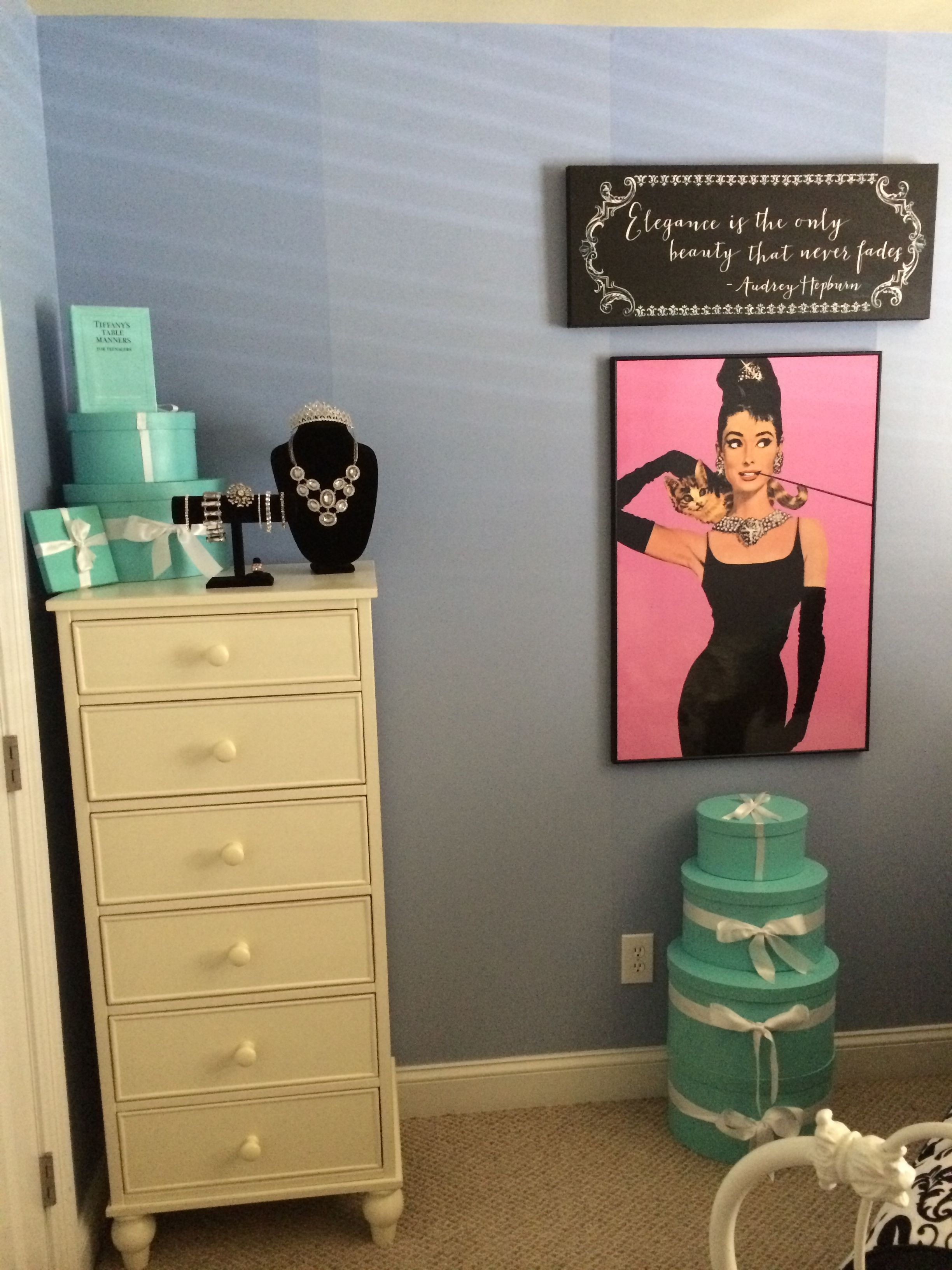 Breakfast at Tiffany's Bedroom accessories. Iconic blue ...