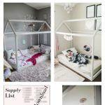 DIY House Frame Floor Bed Plan - D.I.Y -HOUSE-FRAME-FLOOR-BED-PLANS- Montessori images