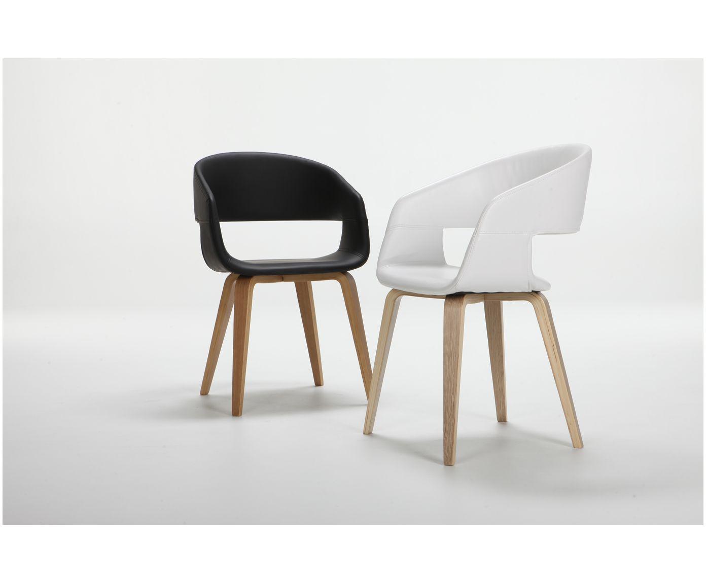 Armlehnstuhl Esszimmer mit armlehnstuhl in weiß kunstleder steht dem perfekten dinner