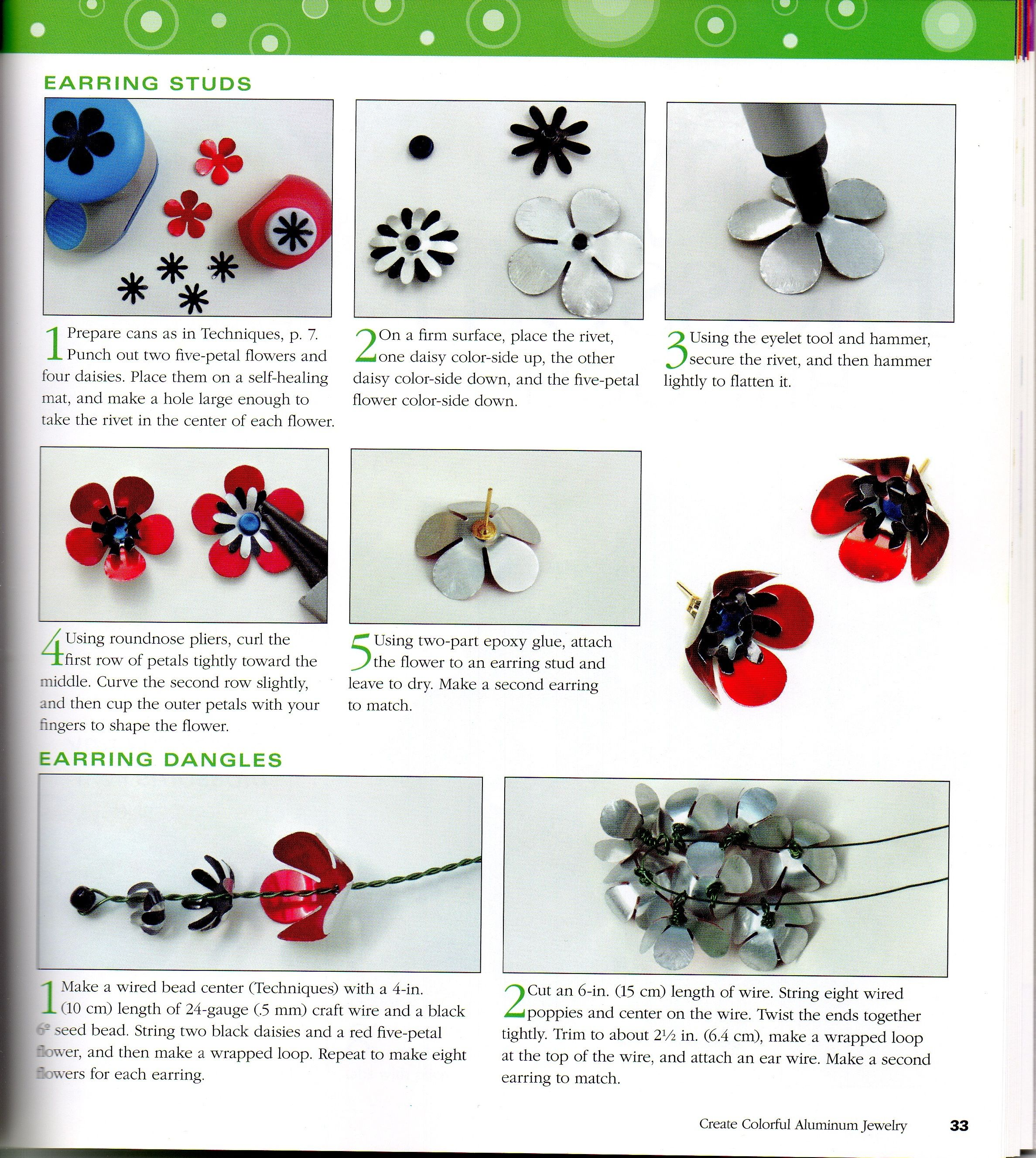 from book - Create Colorful Aluminum Jewelry | Flowers - Metal ...