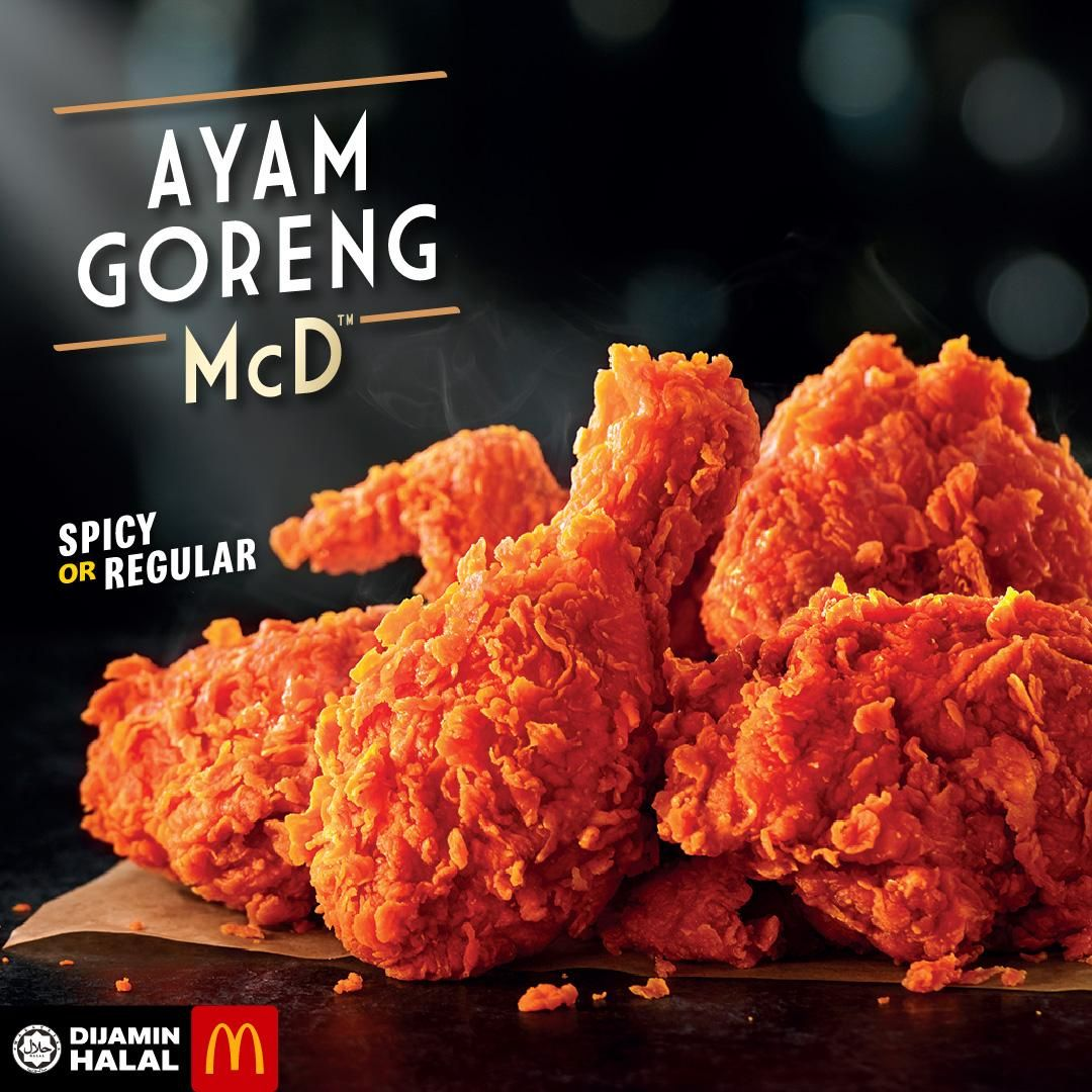 Mcdonald S Ayam Goreng Mcd Spicy Or Regular Low Carb Recipes Dessert Fried Chicken Spicy