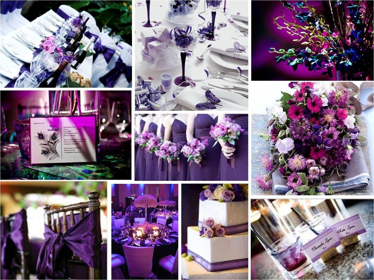 Dream Wedding Motif Purple Wedding Decorations Wedding Theme