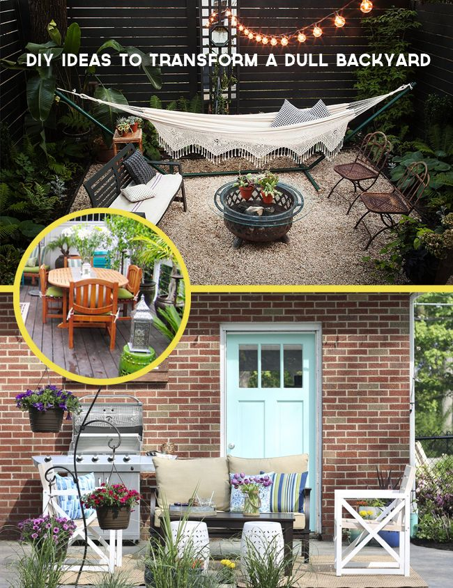 Diy Ify 8 Diy Ideas To Transform A Dull Backyard Or Patio Backyard Projects Patio Makeover Backyard