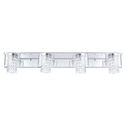 EGLO 4-Light Kissling Chrome Standard Bathroom Vanity Light ...