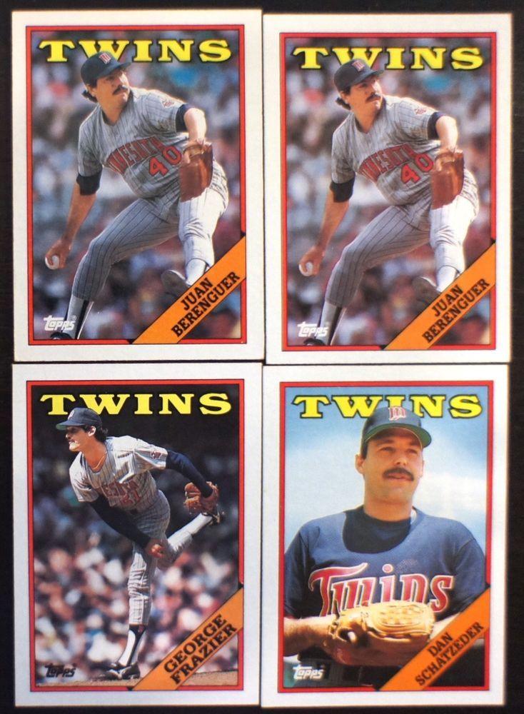Minnesota Twins (MLB Baseball Card Team Lot); 1988 Topps