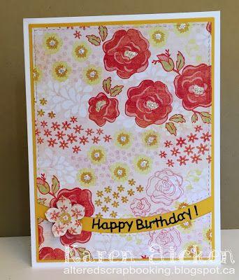 Floral Happy Birthday Card Birthday Cards Happy Birthday Cards