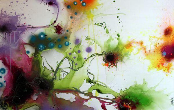 5edff9ce Art by Rikke Darling - Dynamic life (100x150 cm) - www.rikkedarling.com
