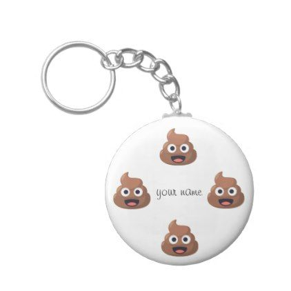 Poop Emoji Face And Your Name Here Keychain Template Gifts - Poop emoji template