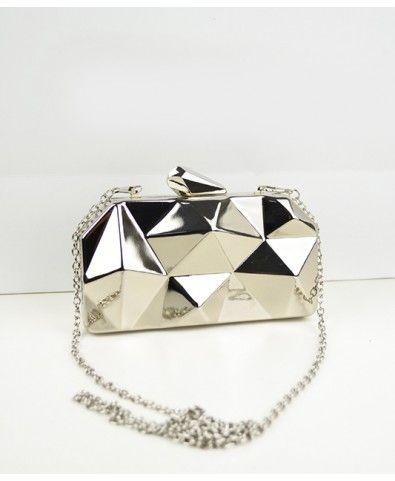 Chic Metal Mini Shoulder Bag - Bags - Accessories