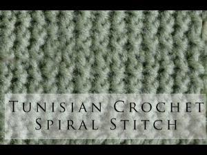 Tunisian Crochet Spiral Stitch by SAburns