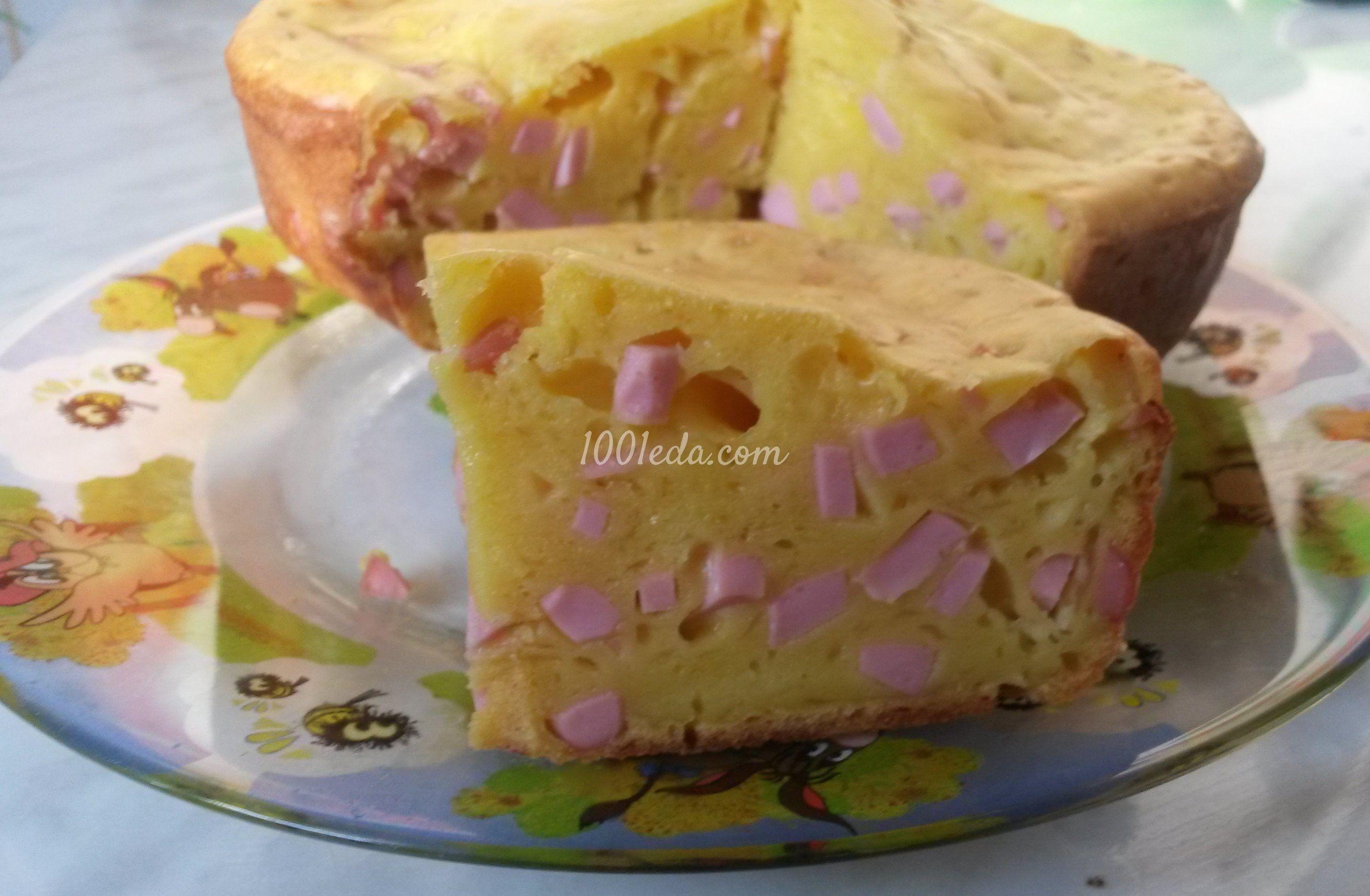 Кекс с сыром и колбаской для детей