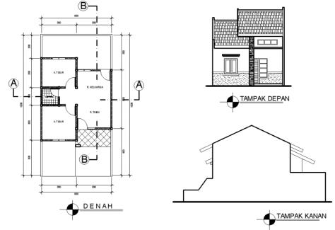 Desain Rumah Minimalis Type 36 Rumah Desain Rumah Denah Rumah