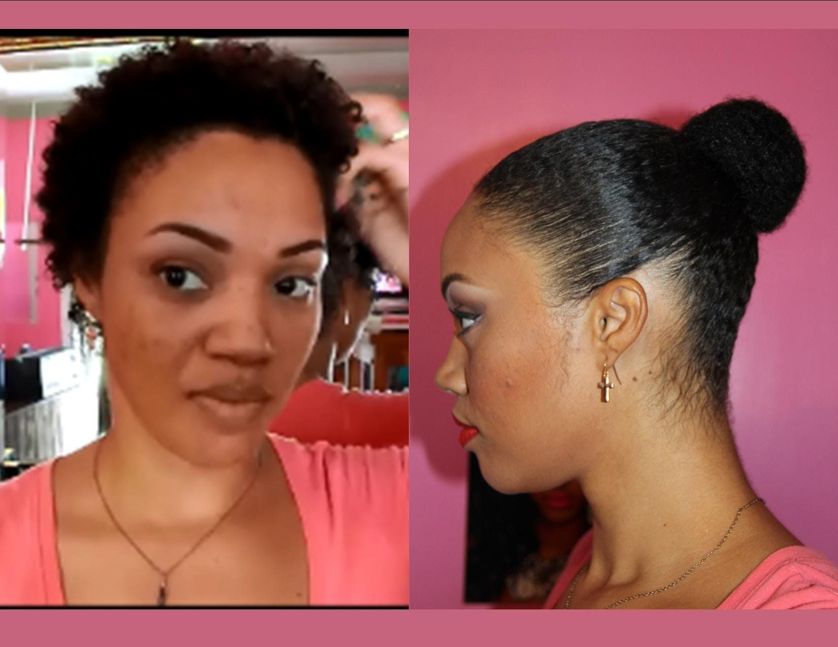 How To Faux Natural Hair Bun On Twa 4 Months Til My Big
