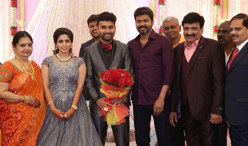 Vijay At Actor Ramesh Kanna Son R.S.Jashwanth Kannan – K.Priyanka Wedding Reception