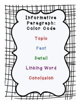Six Sentence Informative Paragraph: Common Core Aligned