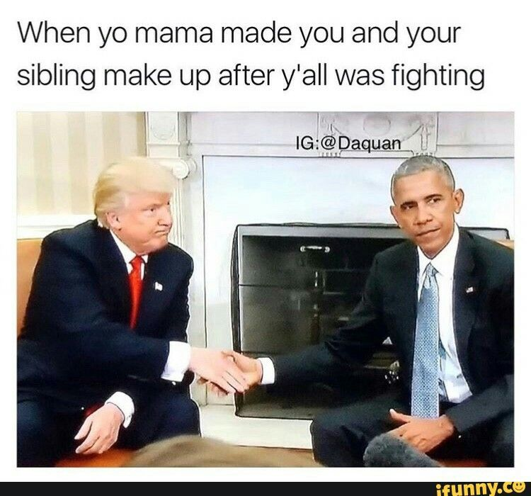 Barack and Donald are brothers now.