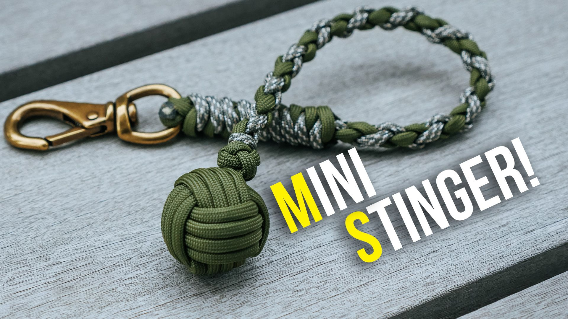 Mini Stinger Monkey S Fist Keychain Craftideas Survival Knot