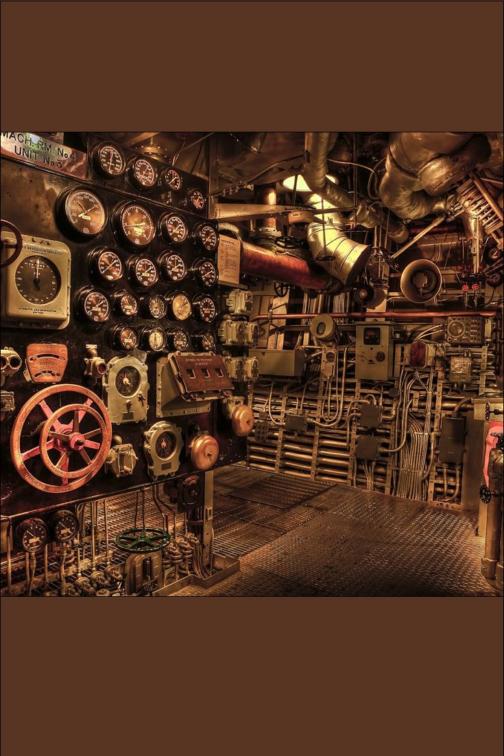 Spaceship Engine Room: This Is Part Of The Engine Room For A Dreadnought-era Ship