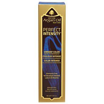 One N Only Argan Oil Hair Color Perfect Intensity Midnight Blue Argan Oil Hair Color Hair Color Argan Oil Hair