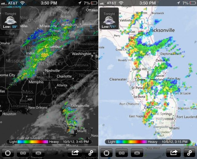 Weather Map Apps.Myradar Weather Radar Gains New Map Data And Iphone 5 Support Apps