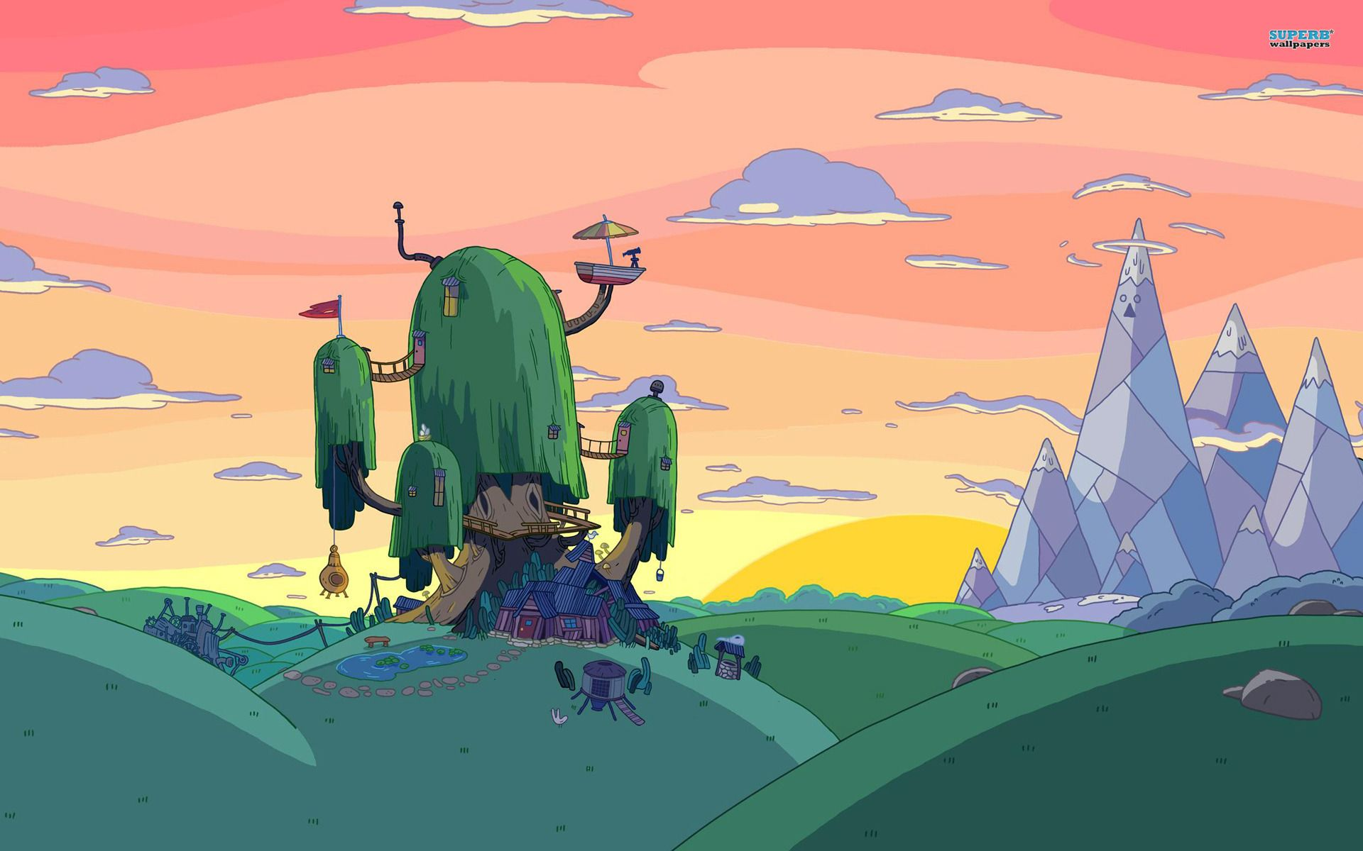 Adventure Time Landscape Google Search Jake De Adventure Time Finn De Horas De Aventura Fotos De Los Simpson