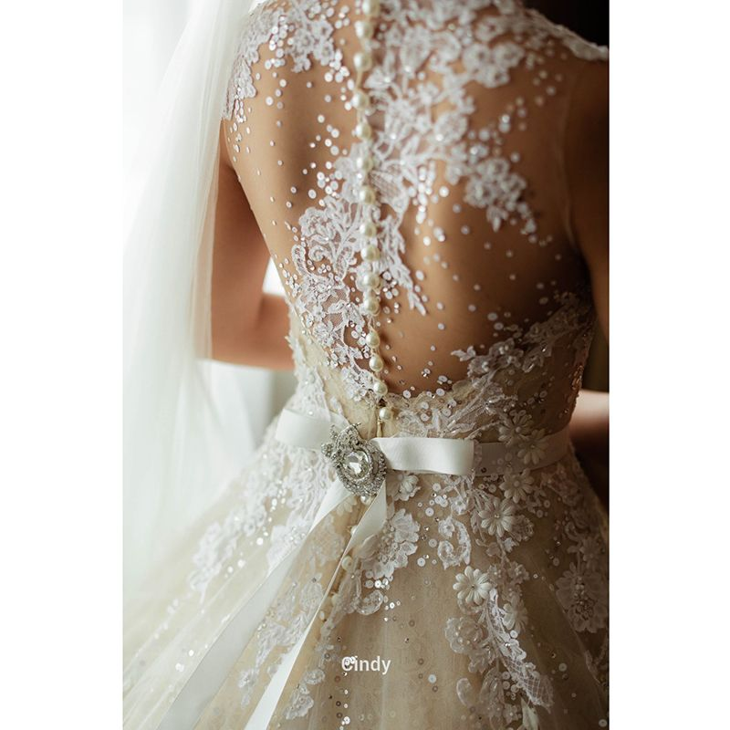 Dress Shops New York Picture More Detailed Picture About Real Photo See Through Long Long Sleeve Wedding Dress Lace Wedding Dresses Lace Bridal Gowns Vintage
