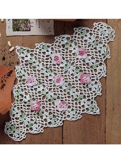 Free Crochet Rose Doily Pattern Grandmothers Pattern Book Sharing