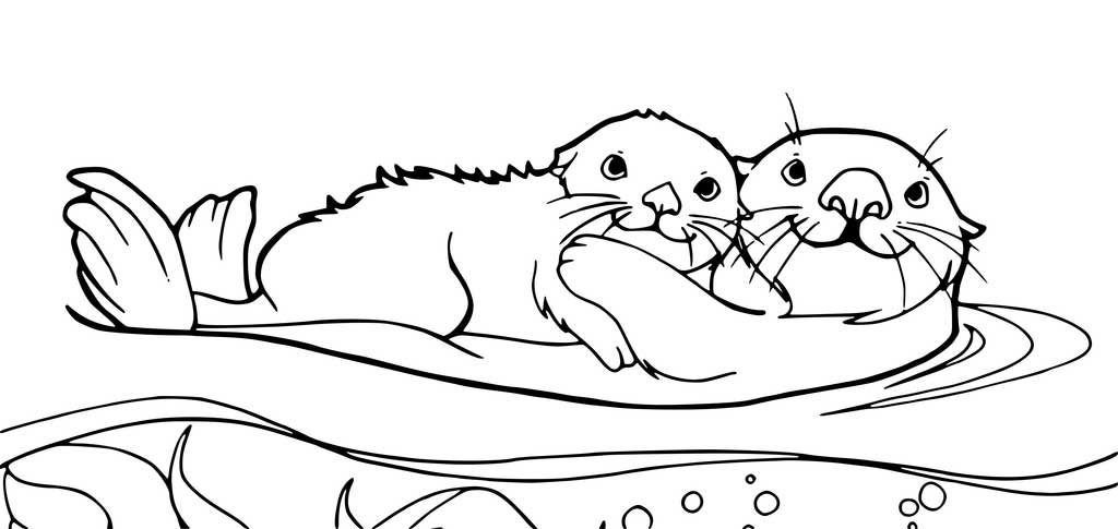Otter Coloring Pages Animal Coloring Pages Coloring Pages Otters
