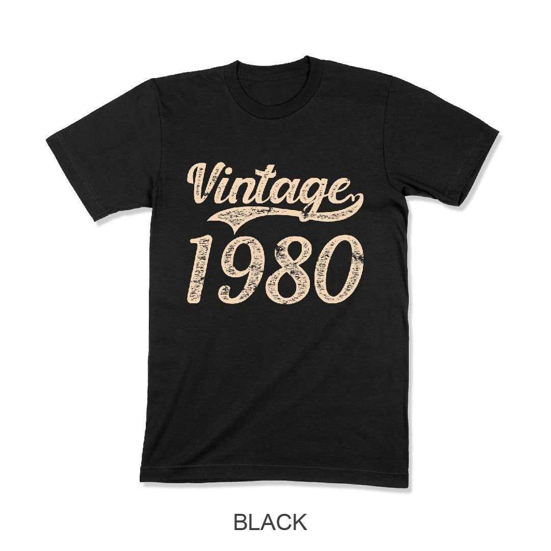 1980 vintage 40th birthday t shirts 40th birthday gift for