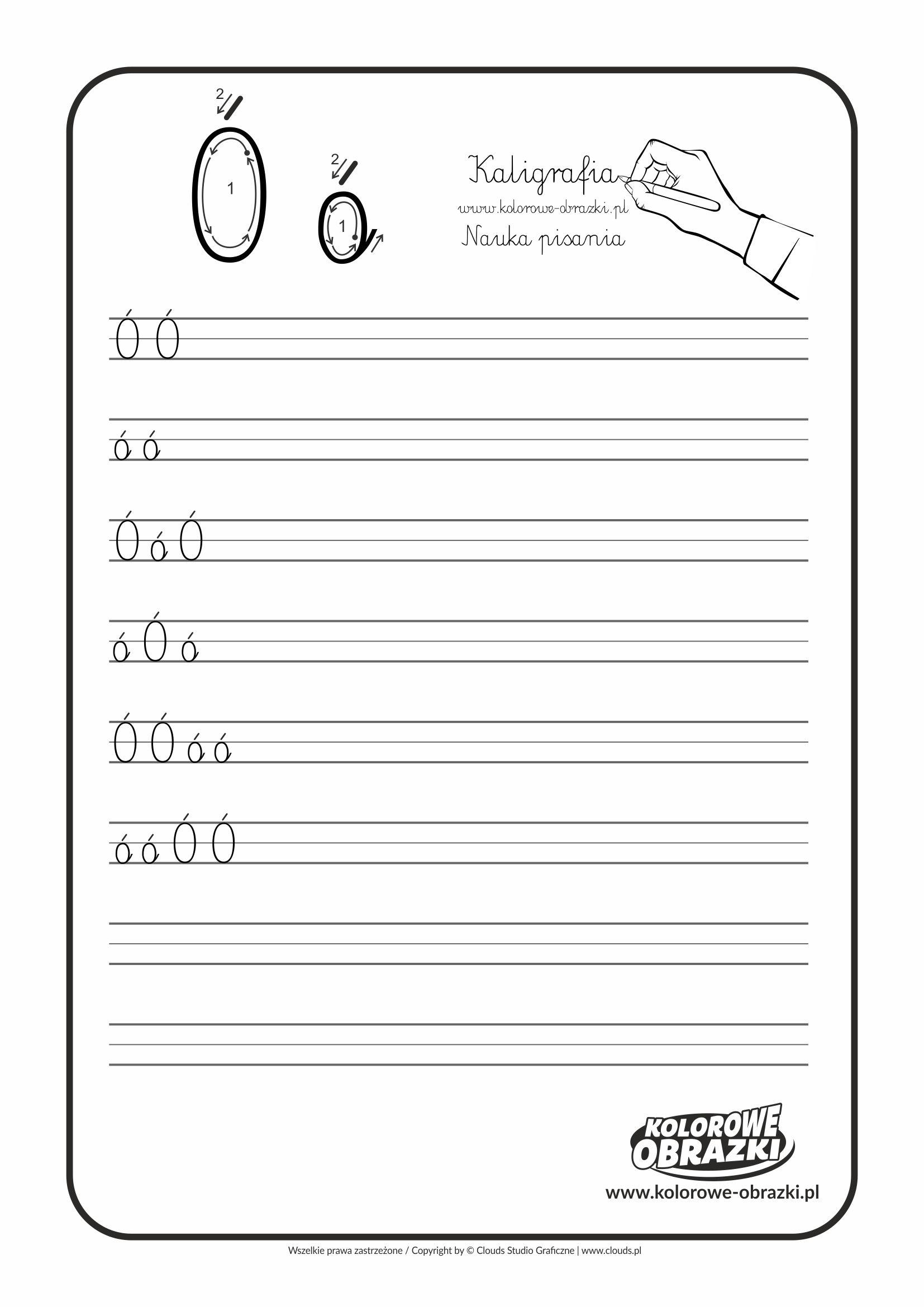 Kaligrafia Dla Dzieci Cwiczenia Kaligraficzne Litera O Nauka Pisania Litery O