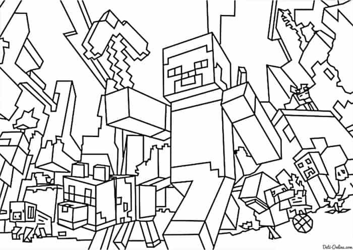 Minecraft Free Coloring Pages Minecraft Coloring Pages Ninjago Coloring Pages Lego Coloring Pages