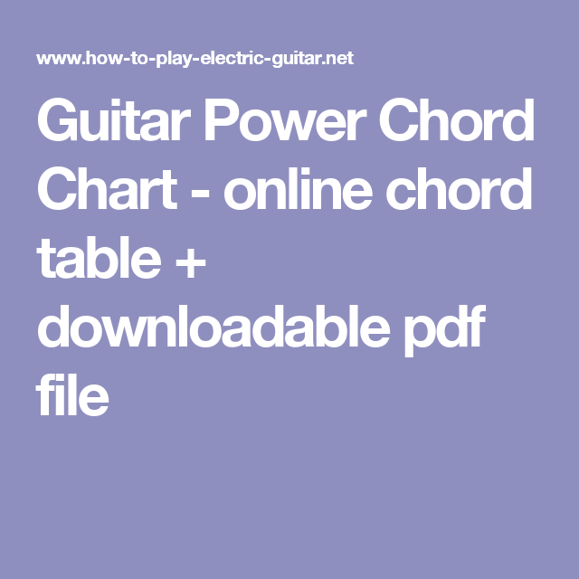 Guitar Power Chord Chart Online Chord Table Downloadable Pdf