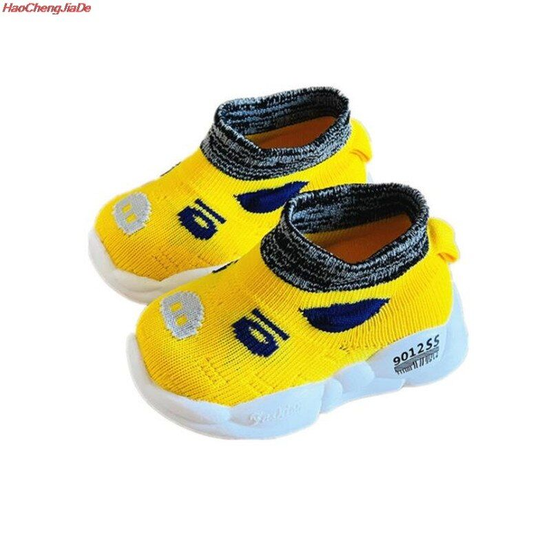 Boys Knit High Top Socks Shoes Toddler Girls Sport Shoes Children Breathable Running Sneakers Kids S