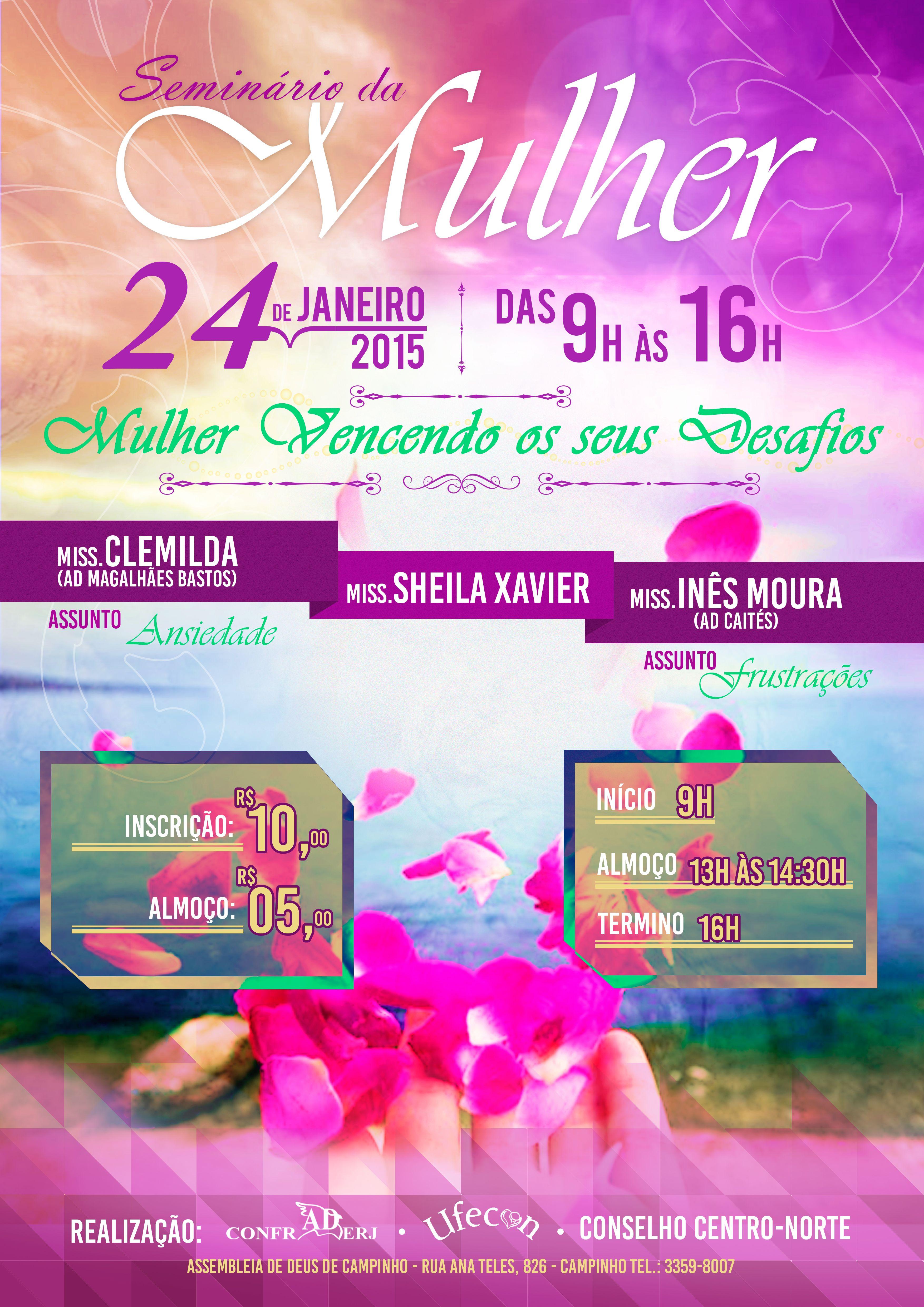 Banner Seminario Da Mulher Mulher Festivais Mulheres