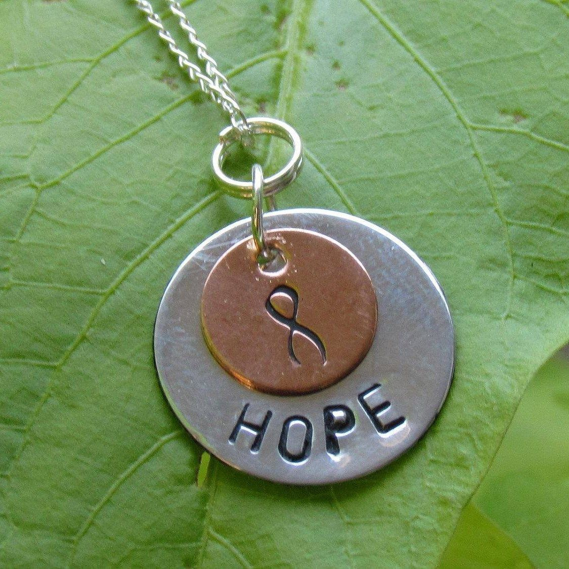 Pin by edna bidle on jewelry pinterest cancer symbol ehlers danlos syndrome hand stamped jewelry sterling silver chains cancer awareness nursing symbols vascular ehlers danlos syndrome buycottarizona