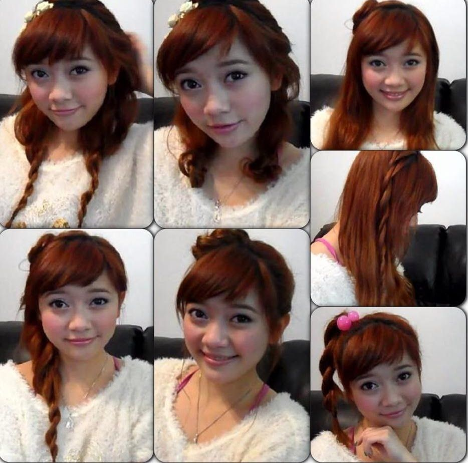 really cute and easy japanese hairstyles peinados pinterest
