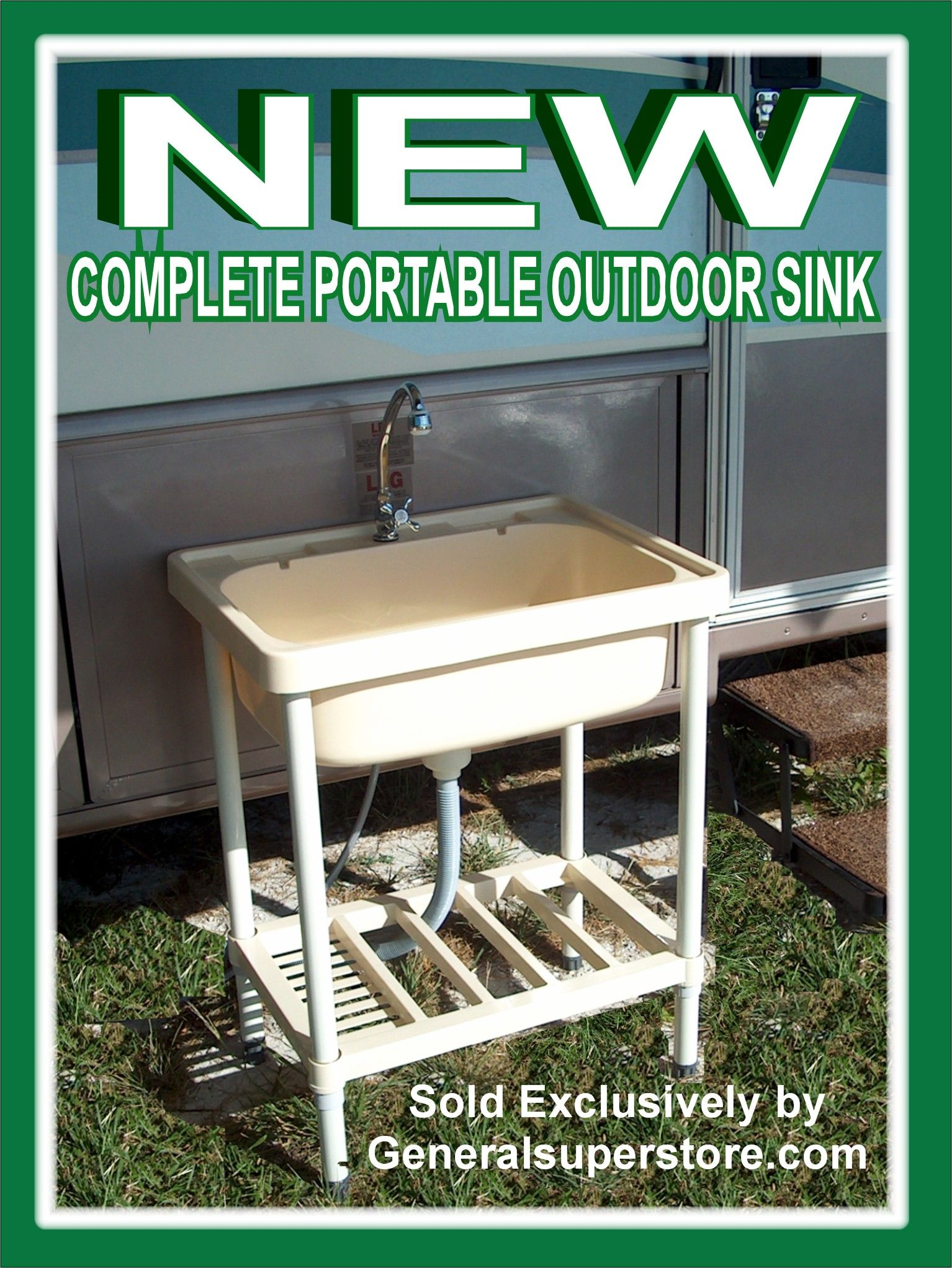 full-size portable outdoor sink needs only a connection to a ...